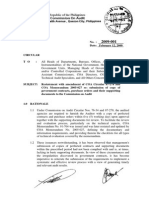COA Cir No. 2009-001-Submission of Pos, Contracts