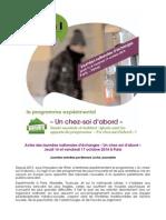 """Actes / Déroulé de la journée d'échanges """"Un chez-soi d'abord"""" 16 et 17 octobre 2014"""