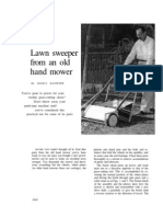 Lawn Sweeper From an Old Hand Mower