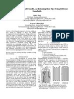 Thermal Performance of Closed Loop Pulsating Heat Pipe Using Different Nanofluids