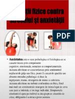 Exercitiul Fizic Contra Anxietatii Si Stresului