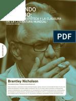Fernando Vallejo, Citoyenneté Esthétiques Et Clausure de La Littérature Mondiale