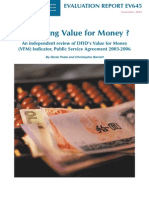 Measuring Value for Money