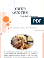 Spiritual Quotes by Srila Prabhupada