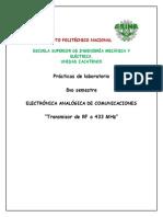 Transmisor de RF a 433.33 MHz