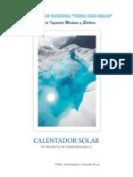 Calentador Solar Proyecto de Termodinamica 1 Unprg Fime