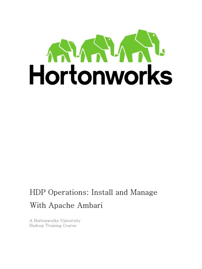 HDPOps-ManageAmbari Docker GA Rev3 | Apache Hadoop | Big Data