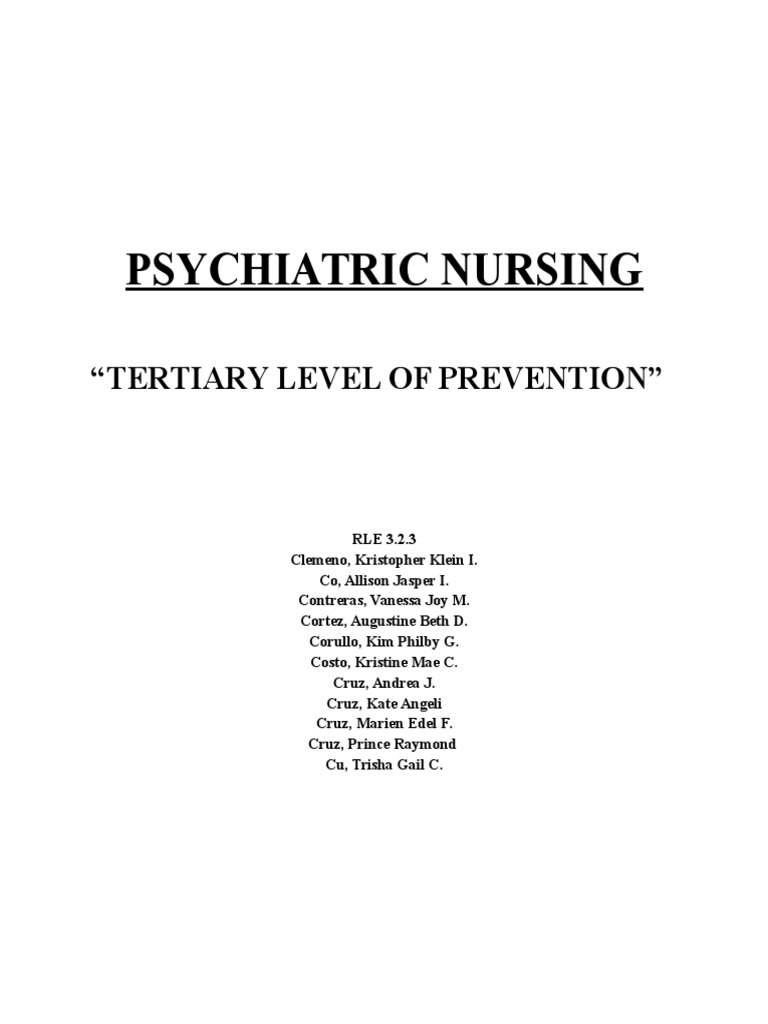 tertiary level of prevention