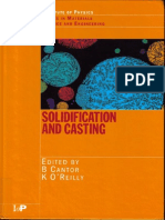 Solidification and Casting