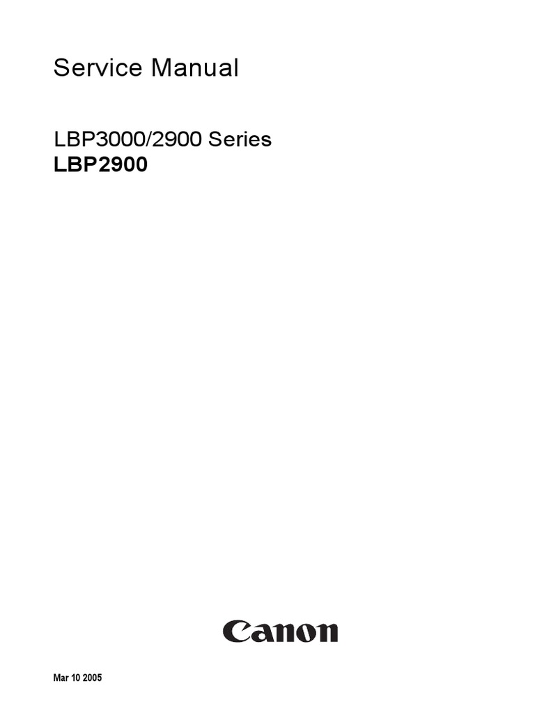 service manual canon laser shot lbp2900 printer computing rh scribd com canon lbp 2900 service manual pdf canon lbp 2900 service manual pdf