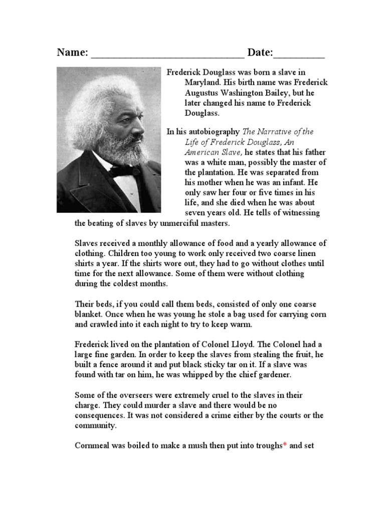 Worksheets Frederick Douglass Worksheet frederick douglass worksheet abolitionism in the united states