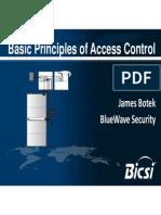 Basic Principles of Access Control