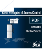 Basic Principles of Access Control
