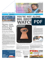 Asbury Park Press front page Tuesday, Jan. 20 2015