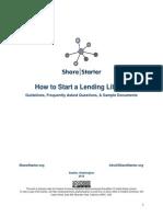 How to Start a Lending Library. Full Packet