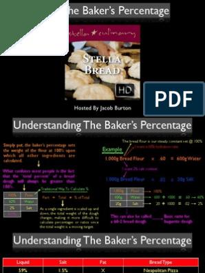 Bakers Percentage Pdf