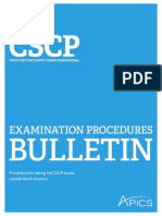 Cscp Bulletin for Outside North America