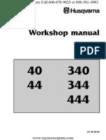 husqvarna 444 workshop manual