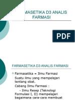 Farmasetika d3 Analis Farmasi
