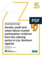 Gender, Youth and Urban Labour Market Participation - Evidence From the Catering Sector in Lira, Northern Uganda