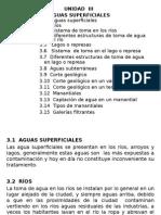 UNIDAD III- Aguas Superficiales