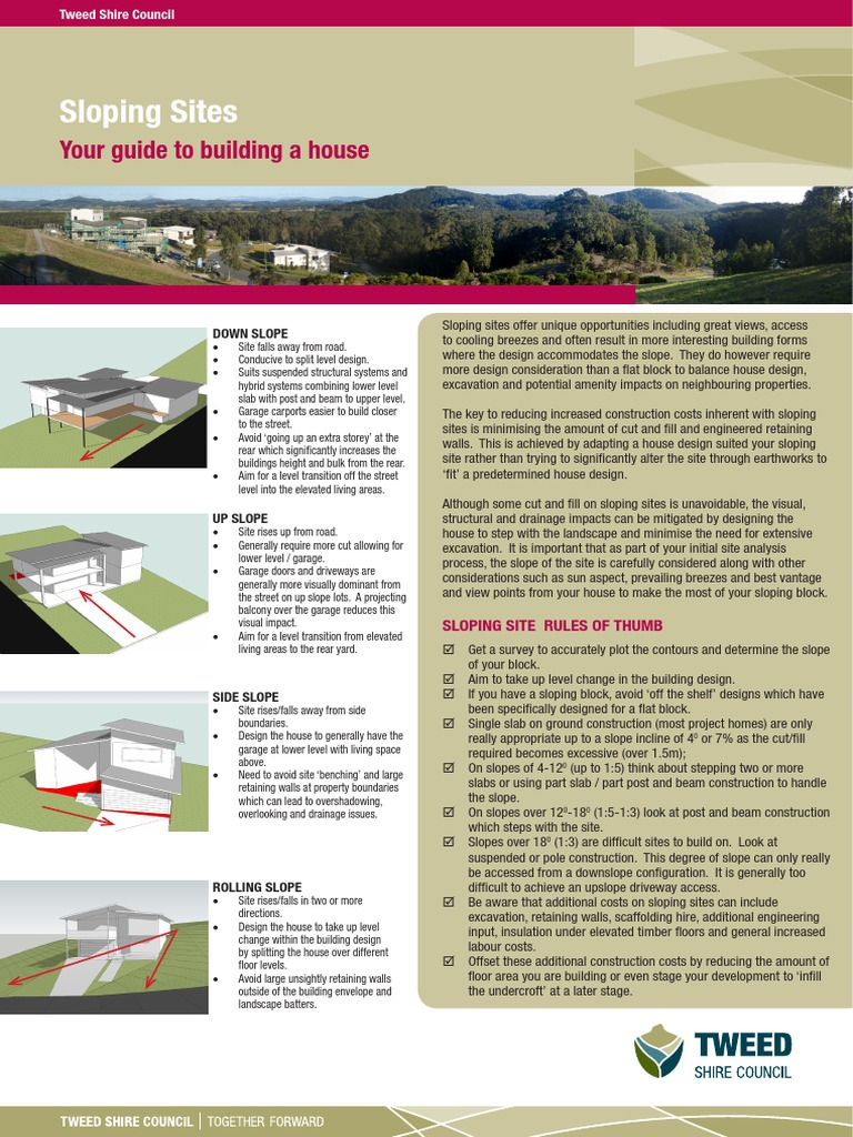 Beautiful Slope Site Solutions | Garage (Residential) | Excavation (Archaeology)