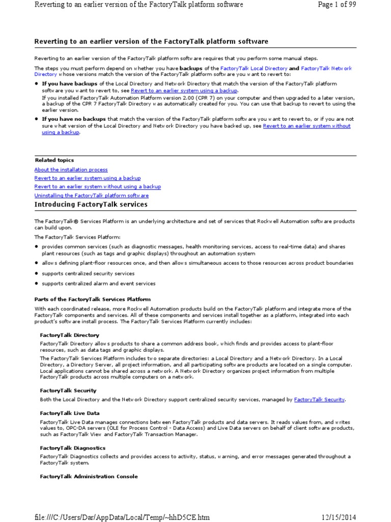 Factory talk   Server (Computing)   Application Software