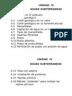 UNIDAD IV- Aguas Subterraneas