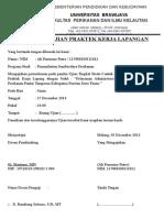 contoh surat Pengajuan Ujian Praktek Kerja Lapangan