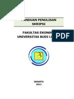 Panduan Skripsi Semester Genap 2012 2013 2