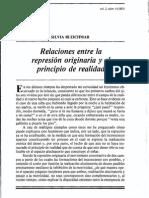 Relaciones entre la represión originaria y el principio de realidad
