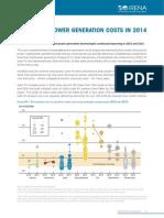 Renewable Power Generation Costs in 2014