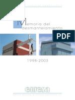 Vandellos I Memoria Proyecto 1998-2003 Espa_ol