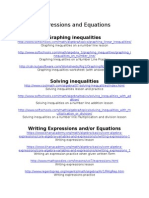 expressions and equations websites