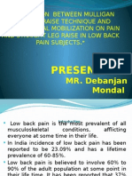 COMPARISON  BETWEEN MULLIGAN BEND LEG RAISE TECHNIQUE AND BUTLER NEURAL MOBILIZATION ON PAIN AND STRAIGHT LEG RAISE IN LOW BACK PAIN SUBJECTS.pptx