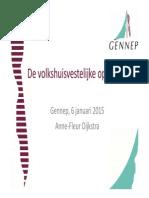 Presentatie over de Volkshuisvestelijke Opgaven voor de gemeente Gennep