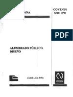 Alumbrado Publico Diseño Covenin 3290