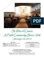Saint Rita Parish Bulletin 1/18/2015