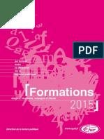 Programme Des Formations 2015