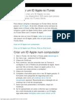 Configurar Um ID Apple No ITunes - Suporte Apple