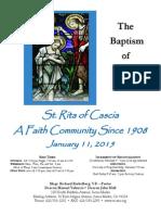 Saint Rita Parish Bulletin 1/11/2015