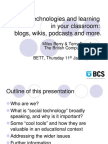 Social technologies and learning in your classroom