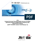 LTE Rel 12 Radio Frequency requirements analysis