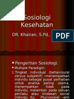 Sosiologi Kesehatan