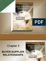WSCM Chapter 5 Buyer Seller Relationships