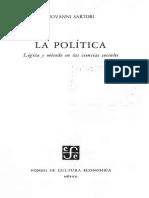 Sartori Giovanni_La Politica Como Ciencia_La Politica