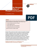 Successfully Managing the Integration of Mergers and Acquisitions
