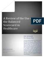 Review of the Use of the Balanced Scorecard in Healthcare BMcD