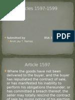 Articles 1597-1599