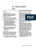Common Recyclable MATERIALS